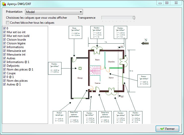 Menu fond de plan modeleur documentation des logiciels izuba nergies - Dessin dxf gratuit ...